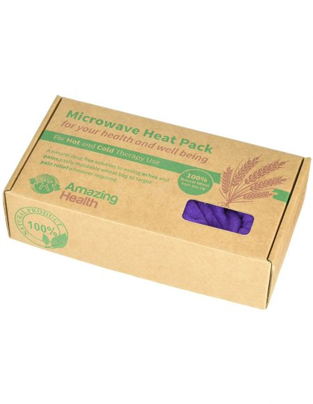 Extra long Microwave wheat bag - NON Scented Purple Cordoroy1 - new2