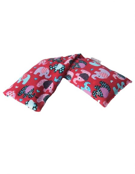 Hot and Cold Pack NON Lavender 100% Cotton Red Elephant Wheat Bag.jpg
