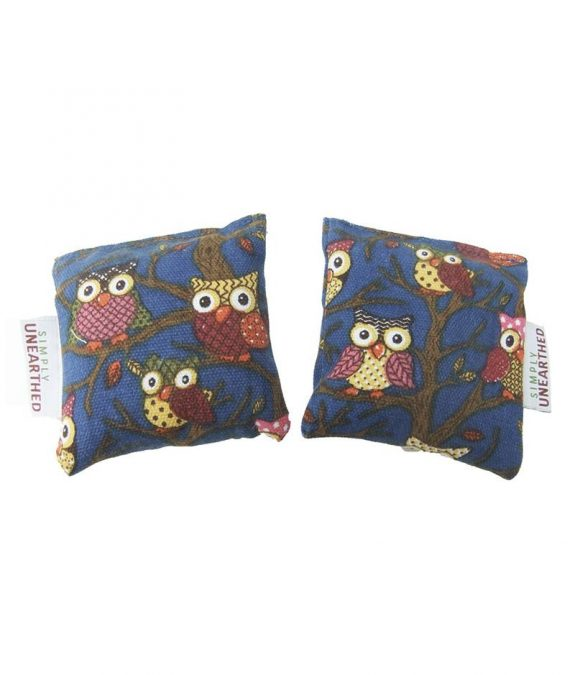 Microwavable Hand Warmers Pair - Blue Owl